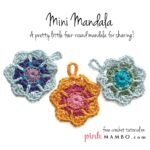 Apliqué Crochet Broche Mandala