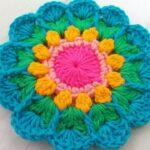 Apliqué Crochet Pequeña Mandala