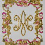 Bordados Apliques Oro Ave Maria