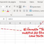 Como Escribir En Excel Sin Que Se Apliquen Formulas