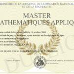 Diplome Mathematiques Apliquees