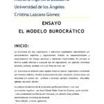 Empresa Donde Se Aplique Modelo Burocratico