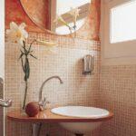 Espejo De Baño Redondo Y Apliques De Luz