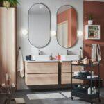 Espejos De Pared Lavabo Ovalado Con Apliques Roca