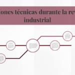 Innovacions Tècniques S'apliquen A La Producció De La Revolcio Industrial