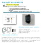 Interruptor Luz Niessen Dos Apliques Con Trees Instalacion