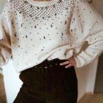 Jersey Blanco Apliques De Colores Zara