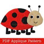 Ladybug Apliques Free